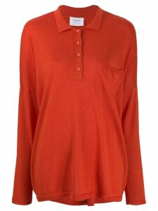 Snobby Sheep long sleeved knitted top - ORANGE