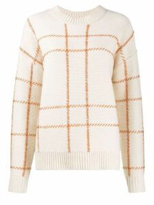 Chinti & Parker checked intarsia jumper - NEUTRALS