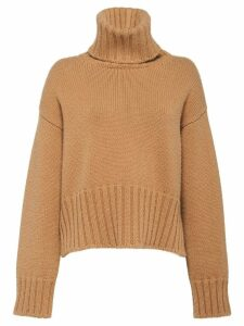 Prada roll neck cashmere jumper - Brown
