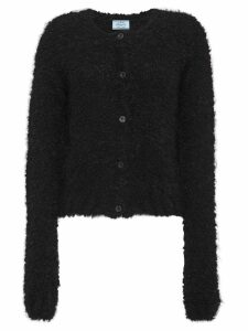 Prada textured button-down cardigan - Black