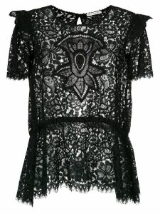 Martha Medeiros Nilda lace blouse - Black