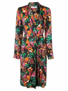 Diane von Furstenberg floral print trench coat - Black