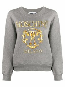 Moschino logo printed sweatshirt - Grey