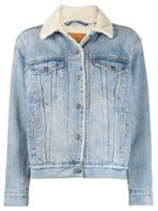Levi's faux shearling lined denim jacket - Blue