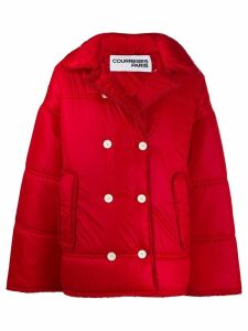 Courrèges oversized padded jacket - Red