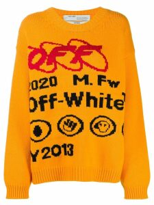 Off-White industrial logo jumper - Yellow