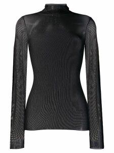 Luisa Cerano turtleneck slim-fit top - Black
