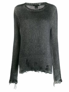 Avant Toi distressed jumper - Grey