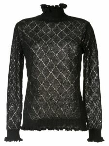 Undercover embroidered long-sleeve top - Black