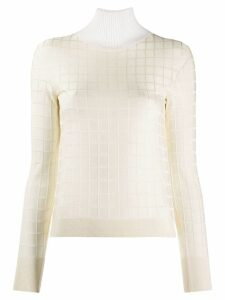 Chloé square pattern jumper - White