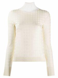 Chloé square pattern jumper - White