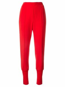 Goen.J jersey-paneled track pants - Red