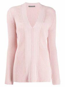 Alberta Ferretti ribbed knit cardigan - Pink