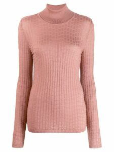 M Missoni turtleneck ribbed knit jumper - PINK