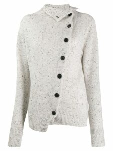 Isabel Marant cashmere asymmetric buttoned cardigan - Grey