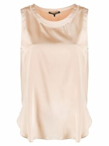Luisa Cerano sleeveless blouse - NEUTRALS