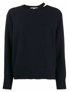 Stella McCartney cut-out detail jumper - Blue