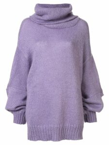 UNDERCOVER oversized roll-neck jumper - Purple