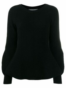 Alberta Ferretti puff sleeve sweater - Black