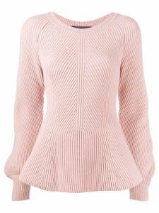 Alberta Ferretti puff sleeve sweater - Pink