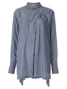 Nehera oversized striped shirt - Blue