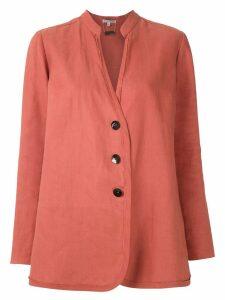Alcaçuz Magalhães linen shirt - ORANGE