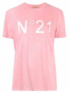 Nº21 logo print T-shirt - PINK