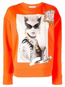 Vivetta back to the future print sweatshirt - ORANGE