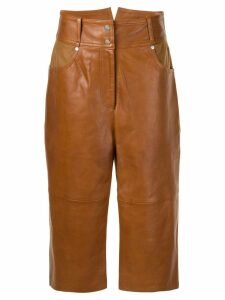 Nehera cropped high waisted trousers - Brown