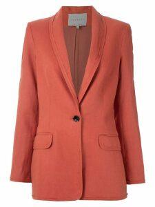 Alcaçuz Miriam linen blazer - ORANGE