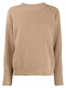 Peserico ribbed knit jumper - NEUTRALS