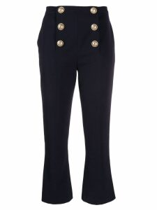 Balmain cropped flared trousers - Blue