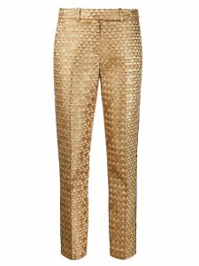 Paule Ka fishscale slim-fit trousers - GOLD