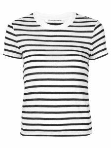 T By Alexander Wang striped print T-shirt - White