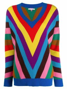 Chinti and Parker colour-block jumper - Blue