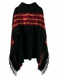 Uma Wang hooded poncho - Black