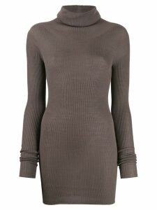 Rick Owens turtle neck knitted sweater - Grey