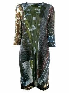 Pleats Please Issey Miyake long tunic top - Green