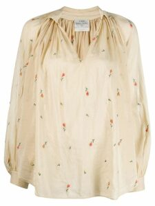 Forte Forte floral embroidery blouse - NEUTRALS