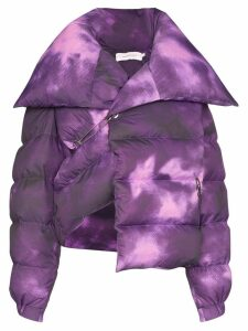 Marques'Almeida deconstructed tie-dye puffer jacket - PURPLE