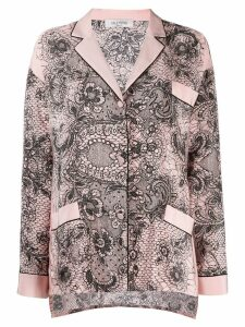 Valentino lace crepe de chine blouse - Pink