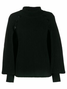 Paule Ka button-detail knit sweater - Black