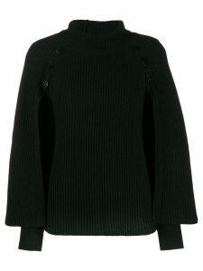 Paule Ka button-detail knit sweater - Black