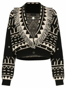 Alanui shawl-lapel cropped cardigan - Black