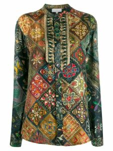 Pierre-Louis Mascia arts and crafts blouse - Green