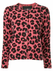 Marc Jacobs leopard print knitted cardigan - PINK