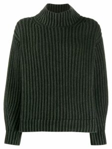 Iris Von Arnim ribbed turtle neck jumper - Green
