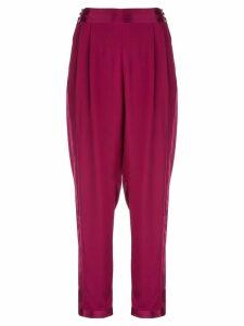 Fleur Du Mal high waist tuxedo trousers - PURPLE