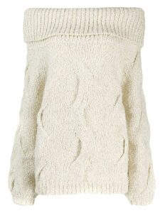 Snobby Sheep off the shoulder sweater - White