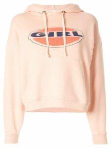 RE/DONE printed logo hoodie - PINK